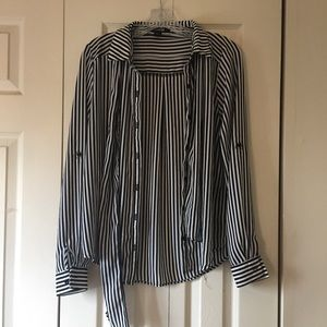 Forever 21 striped long sleeve blouse.